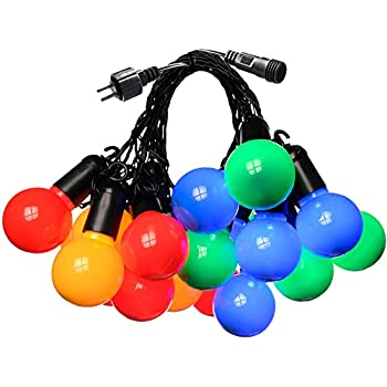 20 Multi Coloured Led Festoon Party Lights For Indoor