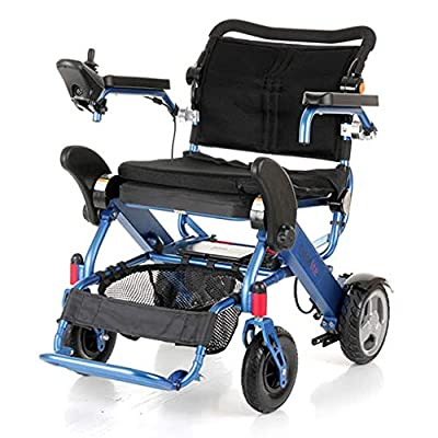 Motion Healthcare Foldalite Power Chair - New SPEC Compact Transportable Mobility Scooter - Electric Power Wheelchair for Adults