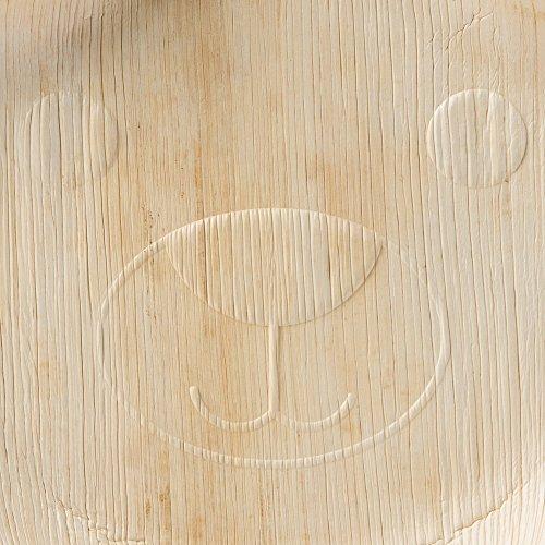 greenbox 144x Einweg Kinderteller aus Palmblatt | Bärchenteller, Kindergeschirr | als Geburtstagsteller, Partyteller | Ohren als Dipschälchen | 22x24cm | 100% biologisch, kompostierbar - 3