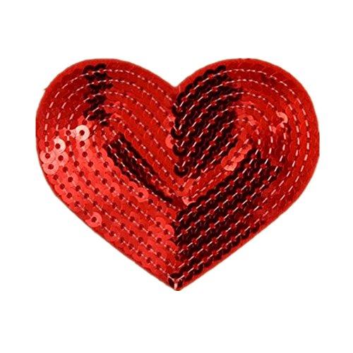Parches de lentejuelas con forma de corazón
