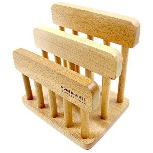 Board Rack Küche Cutting (Neue Holz Dual Schneiden Schneidbrett Rack Organizer Ständer Halter Küche)