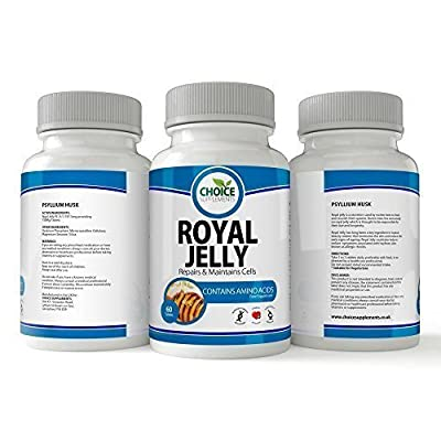 Royal Jelly 750 mg Capsule Tablet Rich in Vitamins Minerals and Trace Elements Vitamin foil pack 30 from choice supplements