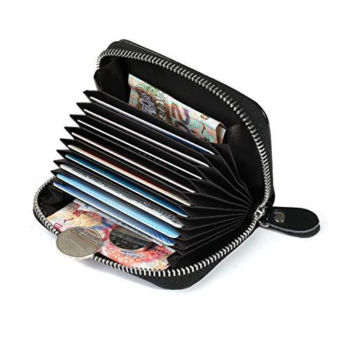 RFID Kreditkarten-Etui, Visitenkarten-Etui, Weiches Rindsleder Kreditkartentasche, RFID Visitenkartenbox, Visitenkartenmappe, Kartenaufbewahrung für Herren und Damen (Visitenkarten-etui Für Männer)