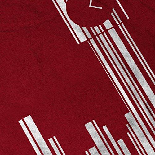 Bar Code Vereinigtes Königreich Stadt Wellcoda Stadt Timer Damen S-2XL Muskelshirt | Wellcoda Rot
