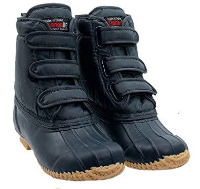 Tayberry Navy Blue Mens Velcro Garden Boots Size 7 Amazoncouk