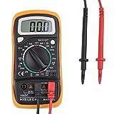 ccbetter Digital Multimeter Multi Tester Voltmeter Amperemeter Ohmmeter - AC / DC Spannung, DC Strom, Widerstand, Dioden, Transistor, Akustischer Durchgangsprüfer mit LCD Hintergrundbeleuchtung