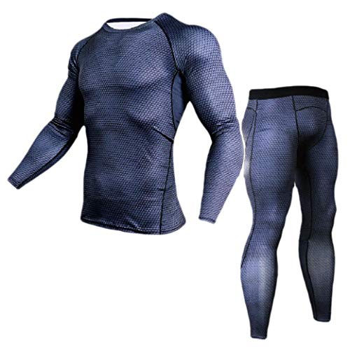 Andode Men Bodysuit Long Sleeve Stretch Fitness Sport Compression Base Layer Black M - Juicy Couture Velour