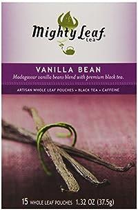 Mighty Leaf Black Tea, Vanilla Bean, 15 Pouches