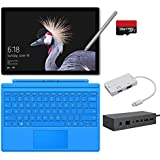 2017 New Surface Pro Bundle ( 6 Items ): Core M3 4GB RAM 128GB Tablet, Surface Dock, New Surface Pen Platinum, Surface Pro 4 Cover Light Blue,128GB Micro SD Card,Mini DisplayPort Adapter