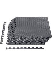 AmazonBasics Puzzle Exercise Mat with EVA Foam Interlocking Tiles - Grey
