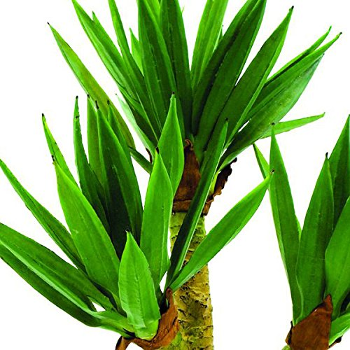 artplants Deko Yucca Palmstrauch mit 60 Blättern, 105 cm, wetterfest – Künstliche Palme/Yucca künstlich