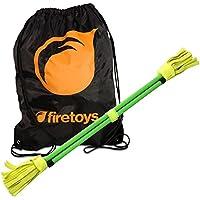 Juggle Dream Neo Fluoro Flowerstick Set - Green - & Firetoys Bag by Juggle Dream