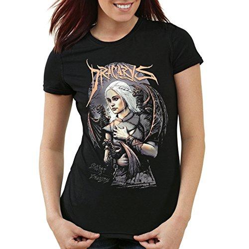 style3 Madre dei Draghi T-Shirt da donna trono stark daenerys di targaryen...
