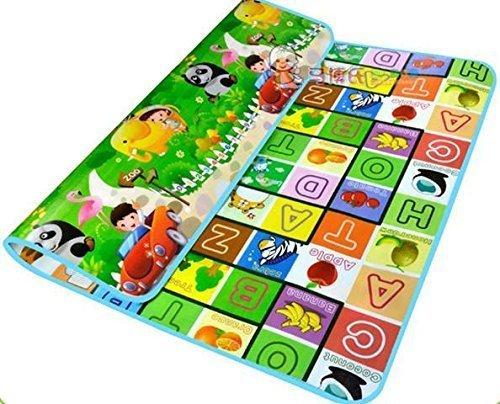 Harikrishnavilla Double Sided Water Proof Baby Mat Carpet (Multicolour)