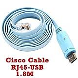 Konsolen kabel mit FTDI Chip Router USB zu RJ45 Für Cisco Gerät Laptop und PC in Windows, Vista, MAC, Linux 1.8M