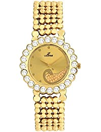 LUCERNE Analogue Gold Designer Dial Metal Casual Wrist Watch For Women A Modern Ladies Watch Gifts For Friends