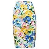 Ralph Lauren 2461X Gonna Donna Slim Multicolor Cotton Skirt Woman [10/L]