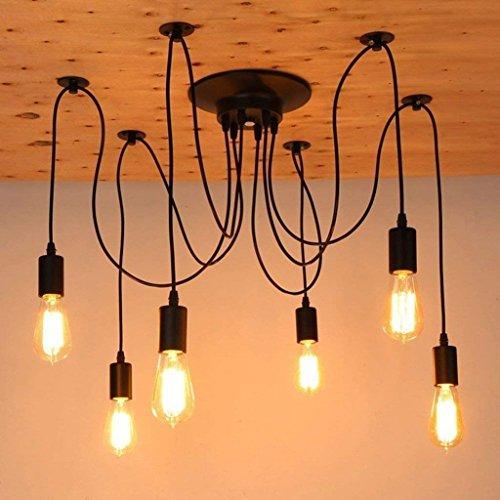 CWJ Decke Kronleuchter Hanf Kronleuchter Retro Edison Lampe Vintage Kronleuchter  Licht Antike DIY Einstellbare E27