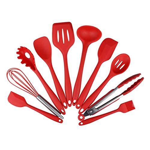Silikon Küchenhelfer Set Antihaft Topf küchenutensilien Startseite Backen Kochen Werkzeuge Kochgeschirr Gadgets Schwarz Rot