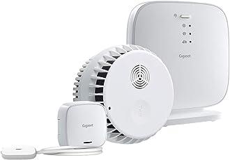 Gigaset Alarm-Set aus Rauchmelder und Wassermelder - mit App-Steuerung - Alarm-Nachricht aufs Handy - Rauchsensor und Wassersensor zur Vermeidung von Elementarschäden - Einsteiger-Set ins Gigaset Alarm-System
