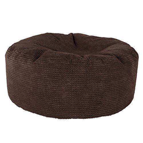 Lounge Pug®, Puff Taburete, Pompón - Chocolate