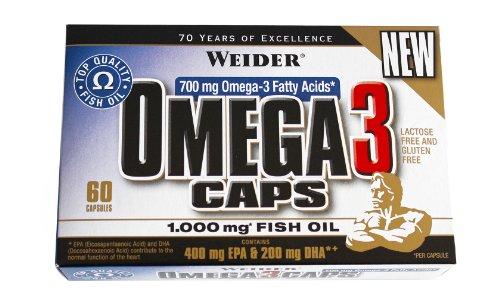 #Weider Omega 3 Caps- 60 Kapseln, 1er Pack (1 x 82 g)#