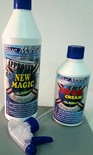 Kit Blue Marine New Magic + New Gum Cream decappante und Wachs für Schlauchboot Nautica