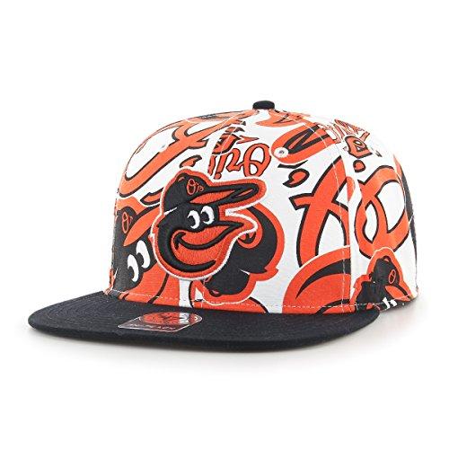 MLB Baltimore Orioles Bravado Captain verstellbar Snapback Hat, eine Größe, weiß (Baltimore Orioles Cap)