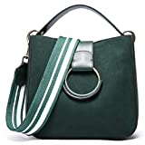 SAIERLONG Damen Grün Echtes Leder Handtaschen Schultertaschen