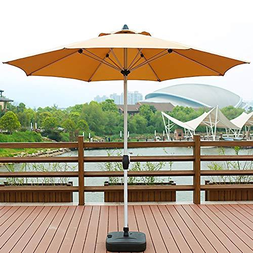 ZDYLM-Y Sonnenschirm Marktschirm, 2.7m im Freien Regenschirm mit 8 Rippen, Polyester Aluminium-Legierung Wasserdichten Außen Tabelle Regenschirm, für Swimming-Pool,Khaki - Höhenverstellbar Aktivität Tabelle