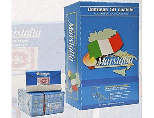 FIAMMIFERI FAMILIARI MARSIGLIA BOX DA 50 SCATOLINE X 100 FIAMMIFERI L'UNO