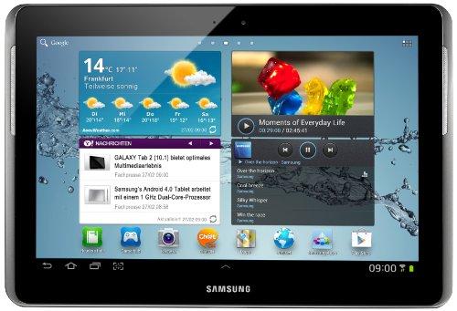 Samsung Galaxy Tab 2 P5100 3G+WIFI Tablet (25,7 cm (10.1 Zoll) Display, 1GHz Prozessor, 1GB RAM, 32 GB Speicher, 3,2 Megapixel Kamera, Android) titanium-silber - Tablet 2012 Samsung
