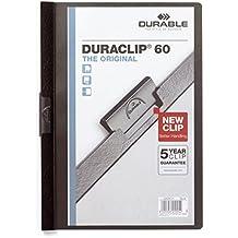 Durable 223801 Klemm-Mappe Duraclip (Original 60, Hartfolie, bis 60 Blatt A4) 5 Stück schwarz