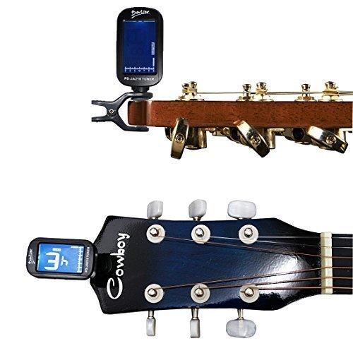WSS - schwarz, verstellbar Position Clip-On Batteriebetriebene Gitarre Tuner für Elektronischer Digitaler Chromatische Bass Violine Ukulele mit LCD-Display