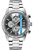 Armbanduhr Herren–Cerruti 1881–La Spezia–Armband Metal Silber–Chronograph und Tachometer–cra121sn13ms