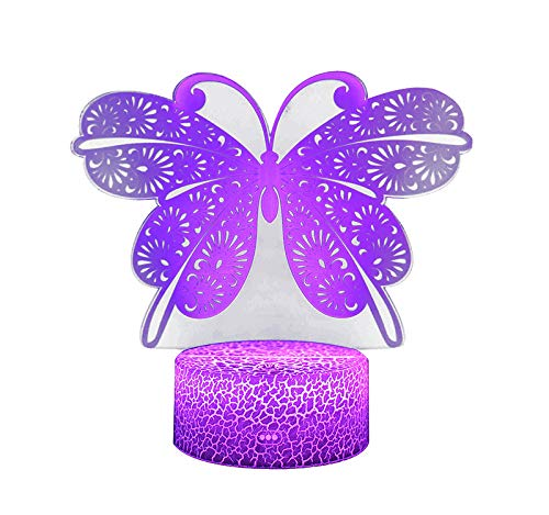 Butterfly 3D Small Night Light Colorful Touch Remote Control Light Plug-In Vision Table Lamp Gift Light Vision Lighting Sales