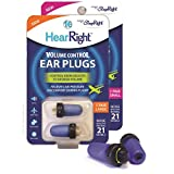#8: HearRight Volume Control Silicone free Ear Plugs - Ideal for relieving Air Pressure Discomfort - Large (Travel case included) - Made in USA