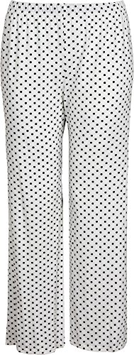 Black and White Polka Dot Wide Leg Palazzo Pants. Sizes 8 to 20