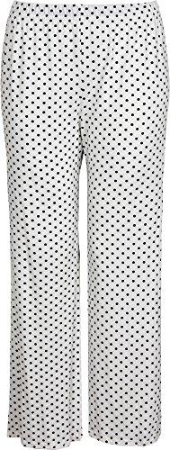 Black and White Polka Dot Wide Leg Palazzo Pants. Sizes 8 to 20