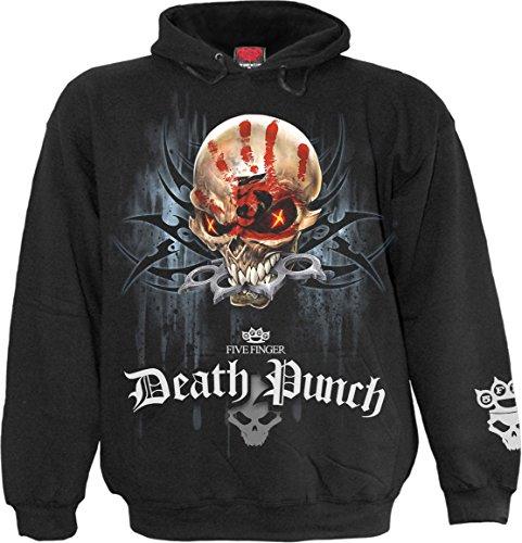 Spiral Direct Five Finger Death Punch Game Over Hoodie (Schwarz) - Large -