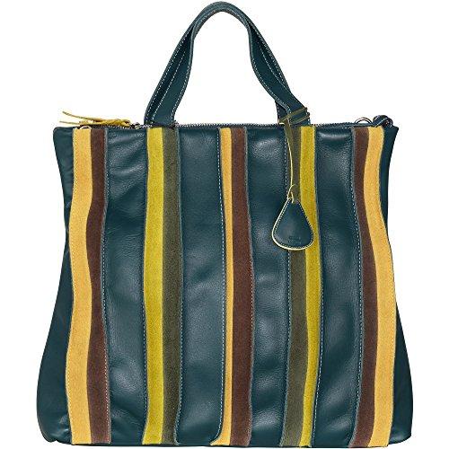 Mywalit , Sac pour femme à porter à l'épaule - marron - Siena, Vert - Verde - verde