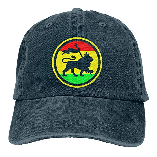 Hoswee Baseballmütze Hüte Kappe Jamaican Rasta Lion Unisex Truck Baseball Cap Adjustable Hat Sandwich Peaked Caps Sun Hat (Jamaican Hüte)