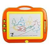 Tavolo da disegno per bambini lavagna magnetica per la moda tavolo da disegno giocattolo per bambini bordo graffiti colorati 1-3 anni facile da trasportare ( Color : Orange )