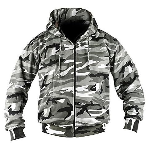 Kombat UK hommes de camouflage à capuche pour homme Fermeture Éclair intégrale XXX-Large Urbain