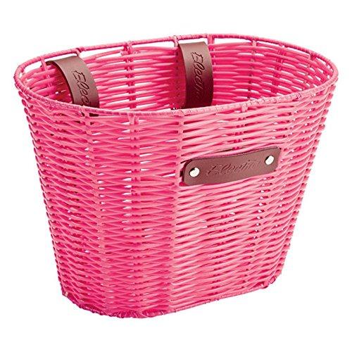 Electra Bicycle Electra Fahrrad Lenker Flecht Korb geflochten Transport Leder Riemen Lenker, Plastic Woven, Farbe pink