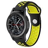Pinhen 22mm orologio da polso per Gear S3Frontier Classic/Moto 3602nd 46mm/pebble time/LG G Watch W100/W110/urbane Amazfit Smartwatch silicone bande di ricambio