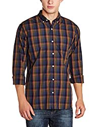 GAP Mens Regular Fit Cotton Casual Shirt (86472847702_Black Moss_Small)
