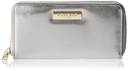 Carvela Damen Alis2 Zip Wallet Geldbörse, Silber (Silver), 2.5x10.5x19 cm