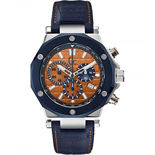 GUESS Reloj Cronógrafo para Hombre de Cuarzo con Correa en Cuero X72031G7S