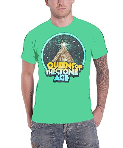 queens-of-the-stone-age-space-mountain-band-logo-herren-nue-grun-t-shirt